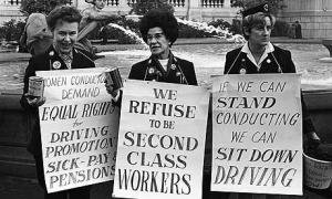 This 1968 struggle in Britain for the right of women to drive buses was one of the events that led to the establishment of the women's liberation movement there