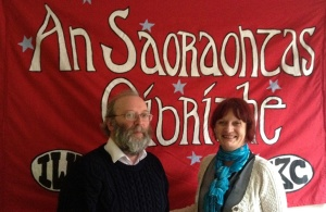 Noel Murphy (national secretary) and Patricia Campbell (president) at the IWU 2014 conference
