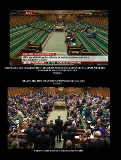 Bottom picture MPs voting on pay rise Thanks to Brian Edwards' blog for picture