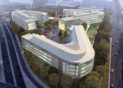 The Bill and Melinda Gates Foundation's new headquarters occupies 900,000-square-feet and cost $(US)500 million