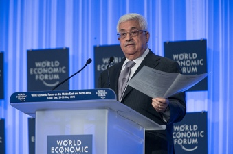 Palestinian National Authority president Abbas puts the case of Palestinian capitalists before a World Economic Forum gathering in Jordan
