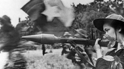 NLF fighter with anti-tank weapon during Tet Offensive