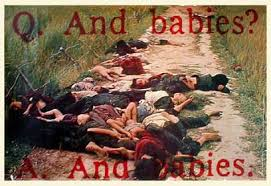 US massacres of civilians, such as at My Lai in South Vietnam, repulsed people all over the world