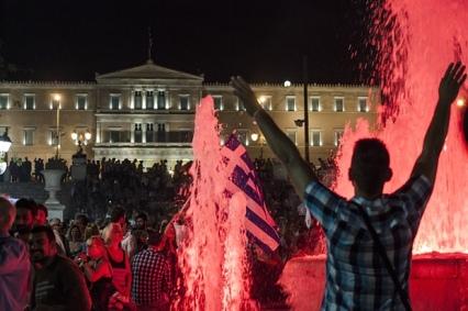 Celebrating the 'No' victory.  Photo:
