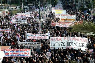 One of Greece's general strikes, June 15, 2011