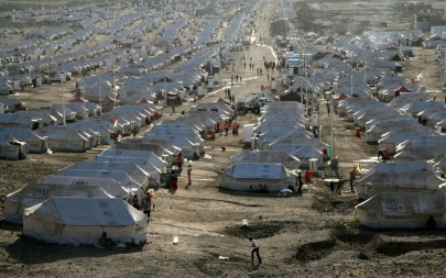Ninety-seven percent of Syrian refugees have fled to neighboring Lebanon, Jordan, Turkey, Iraq, and Egypt.Safin Hamed/AFP/Getty Images