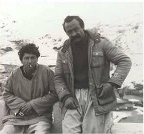 Darius Zand (right) in Kurdistan in the 1980s