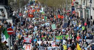 The mobilisation of workers, especially in anti-water tax marches, has helped near-annihilate the Irish 'Labour' Party