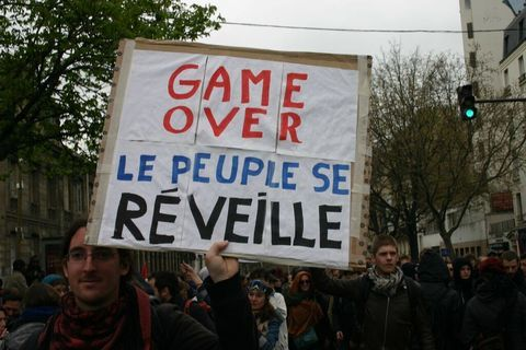 Game Over - the people have awakened; the atacks of the French Labour Party government (SP) on workers has provoked widespread resistance