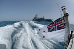 Two NZ Navy frigates were deployed in the Persian Gulf in 2002, 2003, 2004 and 2008; the NZ ruling class is an integral part of the imperialist world order