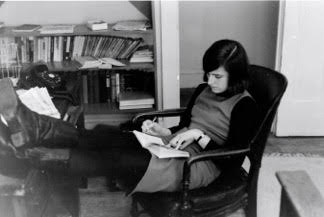 Barbara Gregorich in SWP office in Cleveland in 1968 or 1969
