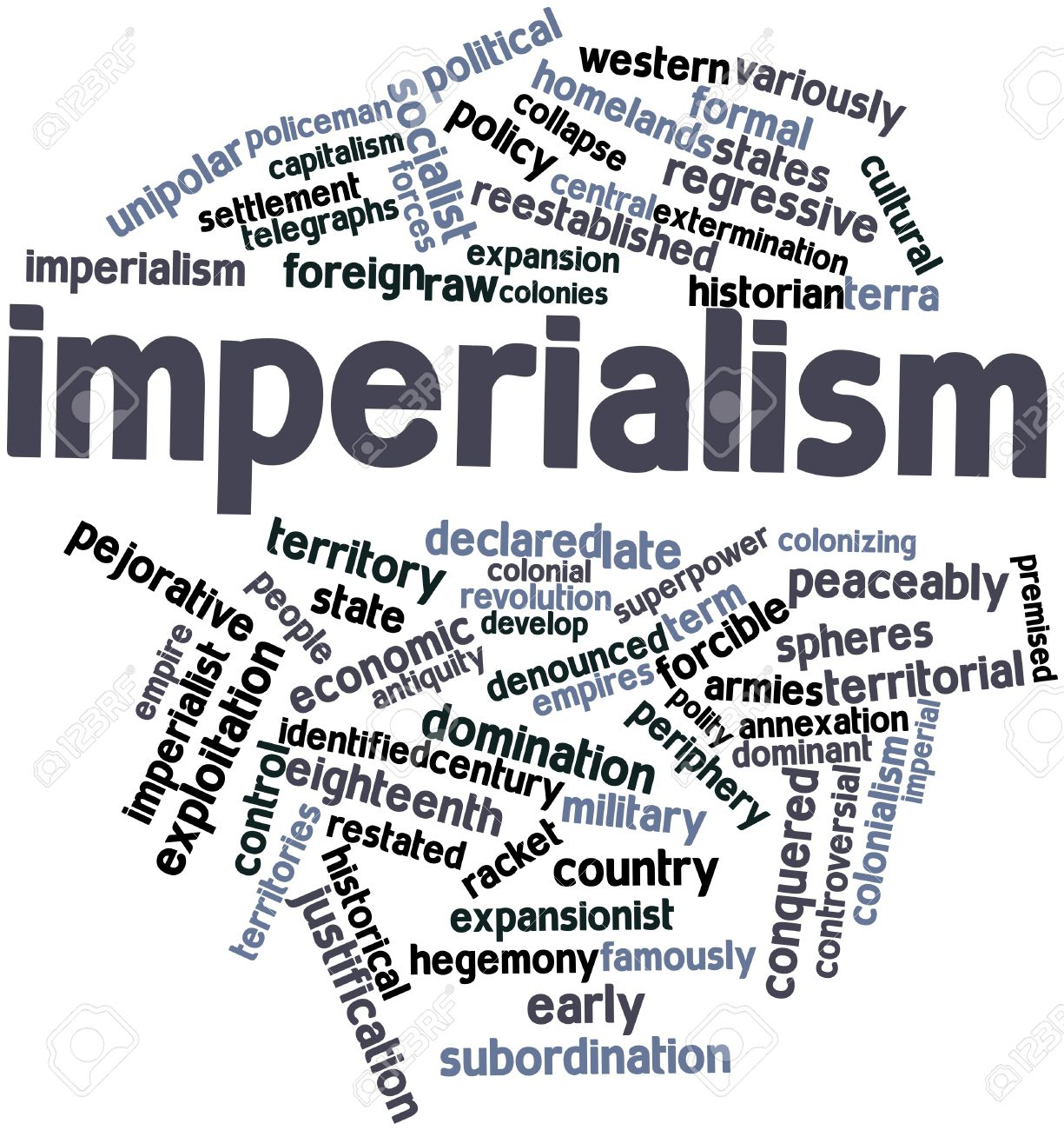 imperialism In the lexicon of euphemism, the word superpower was always useful because it did little more than recognize the obvious the united states of americ.