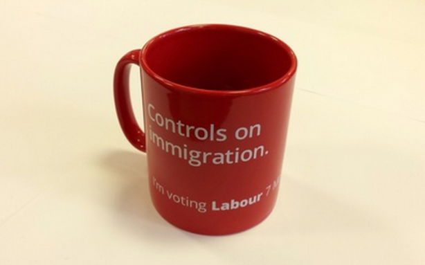 The British Labour Party actually produced this mug for the last British elections; like their British counterparts, the NZ Labourites are a bunch of anti-immigrant bigots