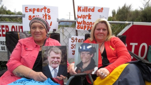 Anna Osborne and Sonya Rockhouse still fighting for justice; photo: Joanne Carroll/Fairfax NZ