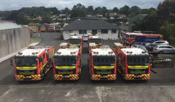 Faulty trucks at Otahuhu Fire Service workshop